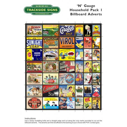 Household Goods - Billboard Sheets - N Gauge