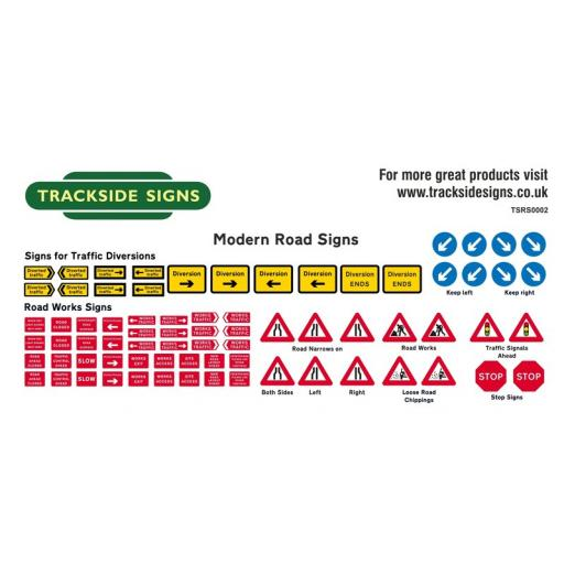 Roadwork Signs (Modern) - OO Gauge