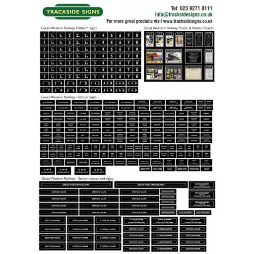 GWR Full Station Sign Sets - N Gauge