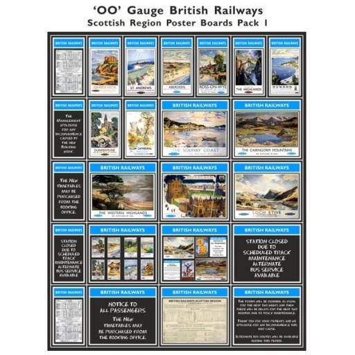 Die Cut Self Adhesive BR Scottish Region Poster Boards Pack 1
