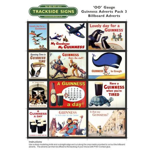 Guinness Films Billboard Sheets Pack 3 - 'OO' Gauge