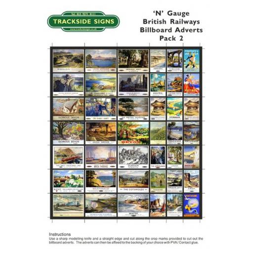 British Railways Billboard Sheet- Pack 2 - N Gauge