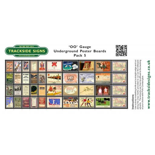 Underground - Poster Board Sheets Pack 5 - OO Gauge