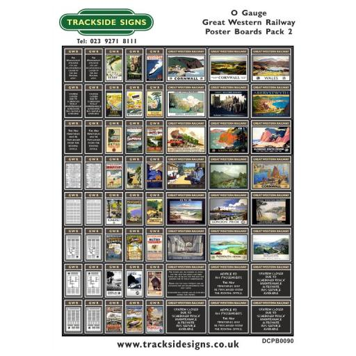 Die Cut GWR Poster Boards Pack 2 (Brown) - O Gauge
