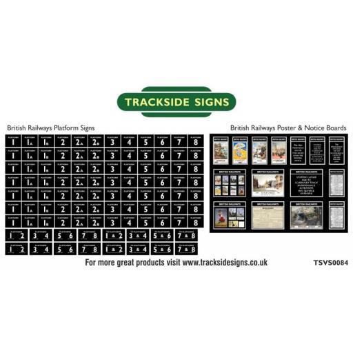 British Railways Platform Numbers and Posterboards - N Gauge