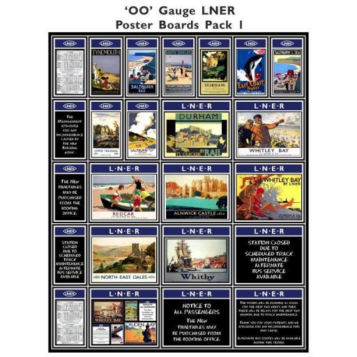 Die Cut Self Adhesive LNER (Blue) Poster Boards Pack 1