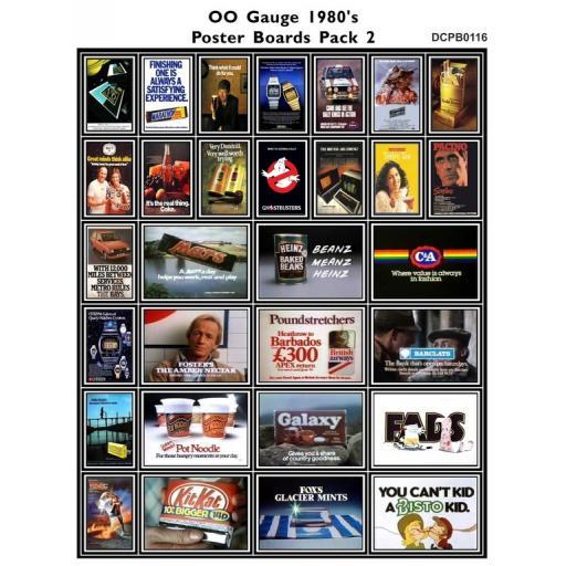 Die Cut 1980's Adverts Poster Boards Pack 2 - OO Gauge