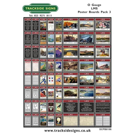 Die Cut LMS Poster Boards Pack 3 (Maroon) - O Gauge