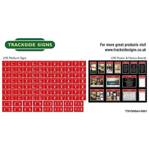 LMS - Platform Numbers and Posterboards - Red - N Gauge