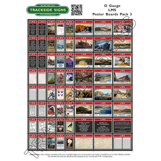 LMS Poster Board Sheets Pack 3- 'O' Gauge