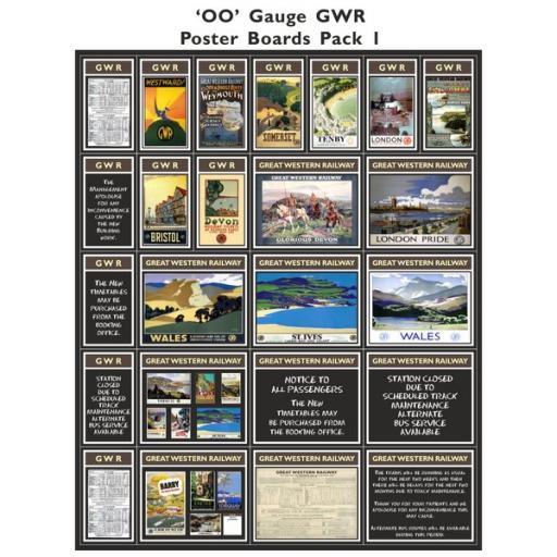 GWR Poster Boards Pack 1 - OO Gauge