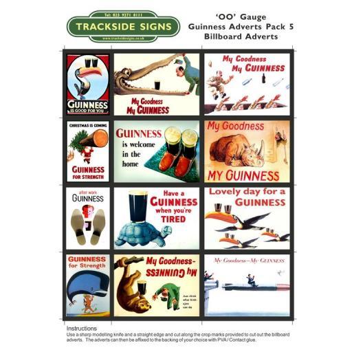 Guinness Films Billboard Sheets Pack 5 - 'OO' Gauge