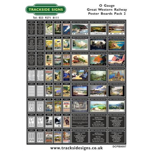 Die Cut GWR Poster Boards Pack 2 (Black) - O Gauge