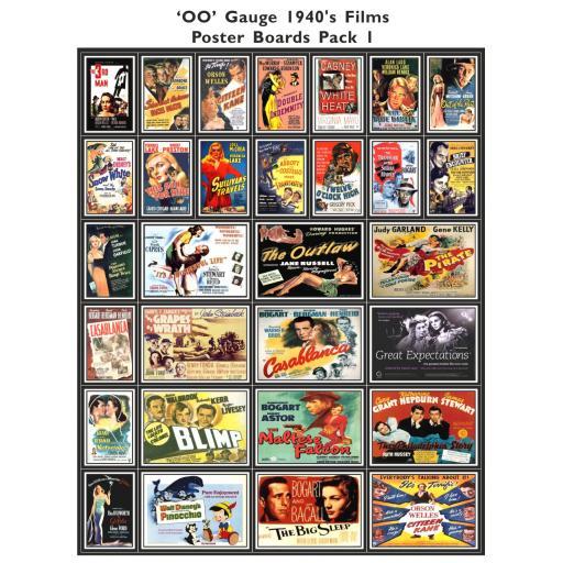 1940's Films Poster Boards Pack 1 - OO Gauge