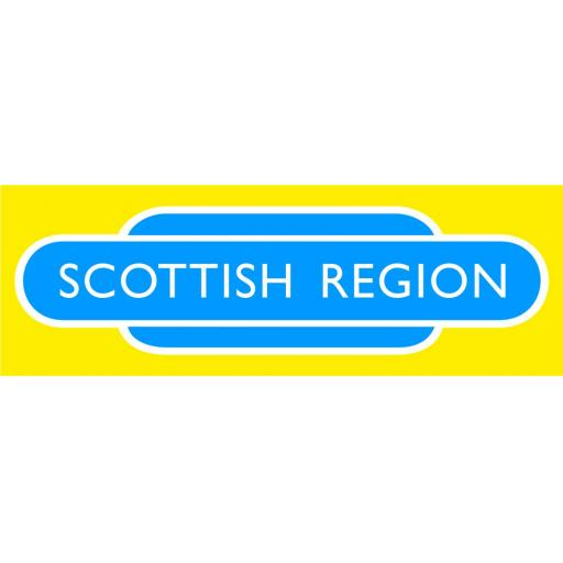 British Railways Scottish Region Di-Bond Totem