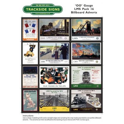 LMS Billboard Sheets Pack 16 - 'OO' Gauge