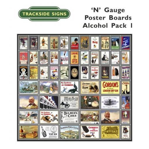 Die Cut Alcohol Poster Boards - N Gauge
