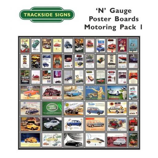 Die Cut Motoring Poster Boards - N Gauge