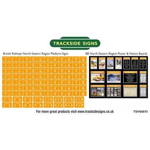 British Railways North Eastern Region Platform Numbers and Posterboards - N Gauge