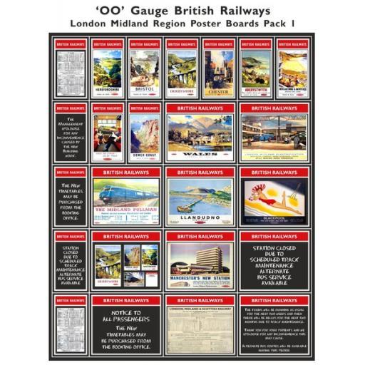 Die Cut Self Adhesive BR London Midland Region Poster Boards Pack 1