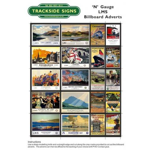 LMS Billboard Sheets - N Gauge
