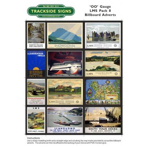 LMS Billboard Sheets Pack 8 - 'OO' Gauge