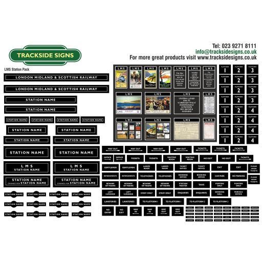 LMS (Black) Small Station Sign Packs - OO Gauge