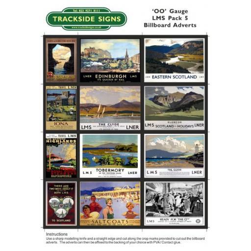 LMS Billboard Sheets Pack 5 - 'OO' Gauge