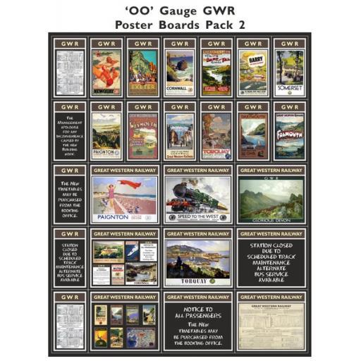 Die Cut GWR Poster Boards Pack 2 - OO Gauge