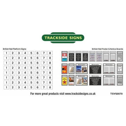 British Rail Platform Numbers and Posterboards - N Gauge